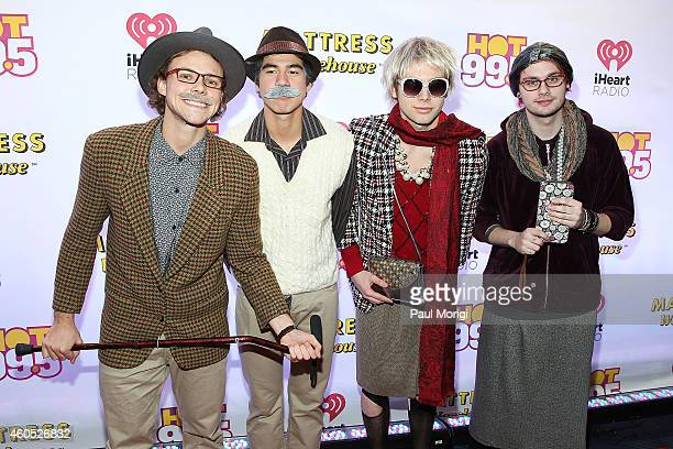 Seconds of Summer arrive in disguise to Hot 995's Jingle Ball 2014 at the Verizon Center on December 15 2014 in Washington DC