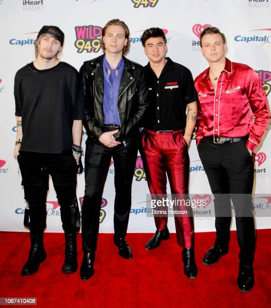Seconds of Summer attend the 2018 WiLD 949's FM's iHeartRadio Jingle Ball at Bill Graham Civic Auditorium on December 1 2018 in San Francisco...