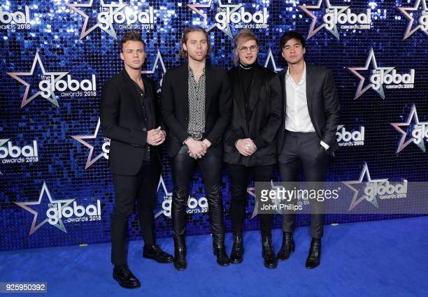 Seconds of Summer attend The Global Awards 2018 at Eventim Apollo Hammersmith on March 1 2018 in London England
