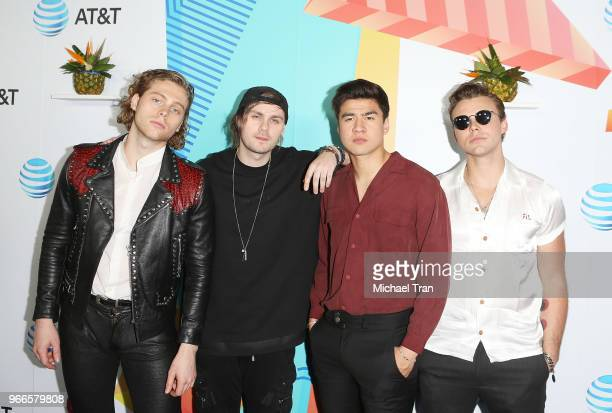Seconds of Summer attend the iHeartRadio's KIIS FM Wango Tango By ATT held at Banc of California Stadium on June 2 2018 in Los Angeles California