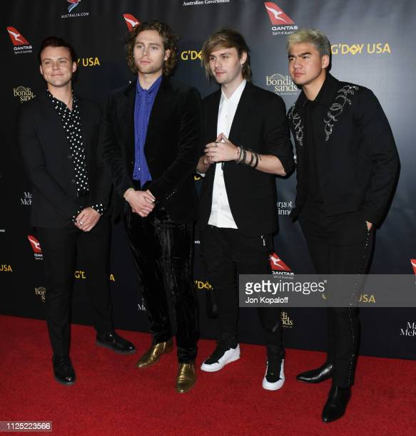 Seconds of Summer attends the 16th Annual G'Day USA Los Angeles Gala at 3LABS on January 26 2019 in Culver City California