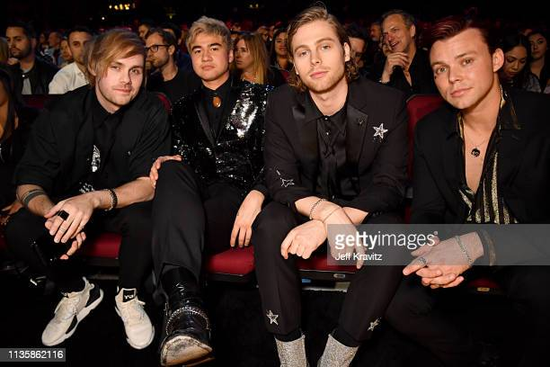 5 Seconds of Summer attends the 2019 iHeartRadio Music Awards which broadcasted live on FOX at the Microsoft Theater on March 14 2019 in Los Angeles...