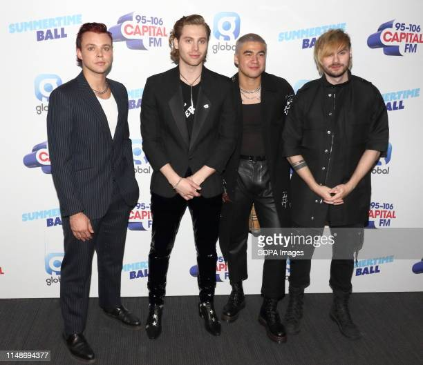 Seconds of Summer seen during the Capital FM Summertime Ball at Wembley Stadium in London