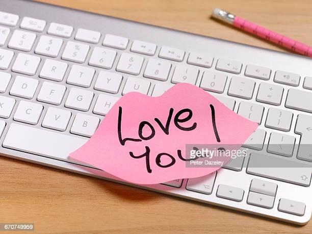 secret admirer romantic note left on office desk