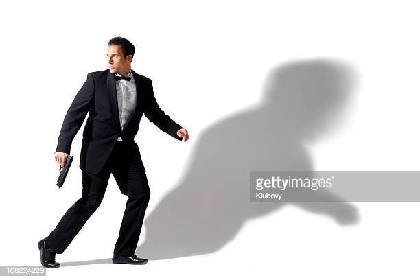 secret agent - tuxedo stock pictures, royalty-free photos & images