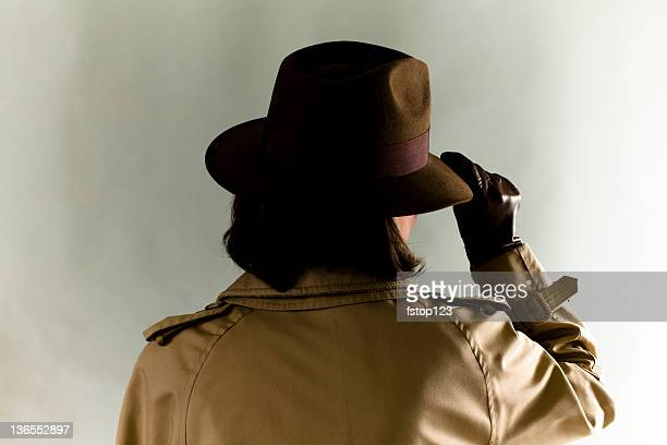 secret agent - fedora stock pictures, royalty-free photos & images