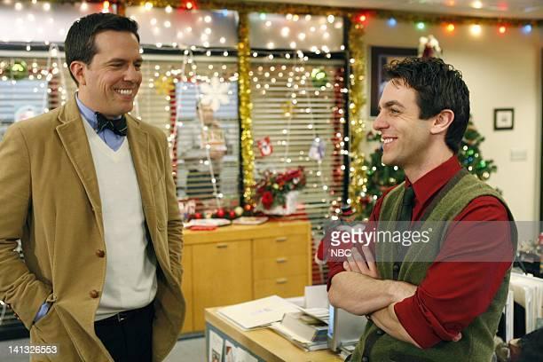 THE OFFICE 'Secret Santa' Episode 610 Air Date Pictured Ed Helms as Andy Bernard BJ Novak as Ryan Howard Photo by Chris Haston/NBCU Photo Bank