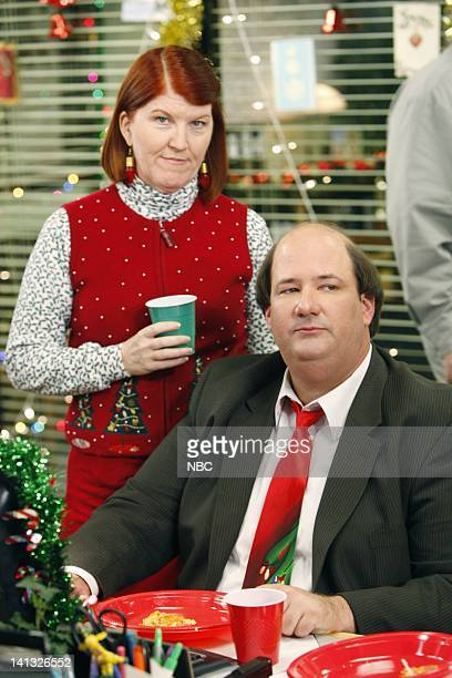 THE OFFICE 'Secret Santa' Episode 610 Air Date Pictured Kate Flannery as Meredith palmer Brian Baumgartner as Kevin Malone Photo by Chris Haston/NBCU...