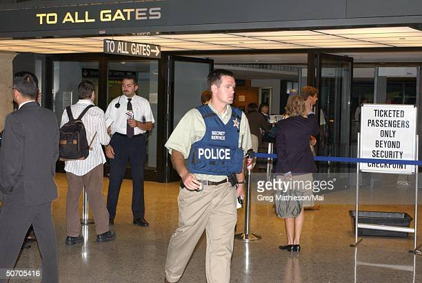 US Secret Service agent responding to an alert for possible hijacking of a Northwest airliner at Dulles only one week after terrorists hijacked a...