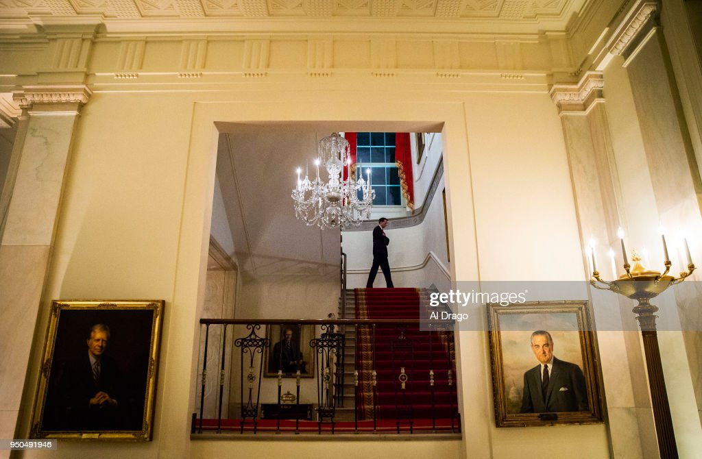 White House Previews State Dining Room Ahead Of State Dinner With France : News Photo