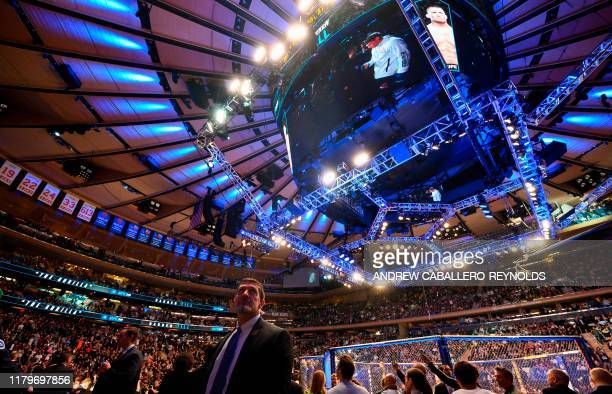 US Secret Service agents watch the crowd during the Ultimate Fighting Championship at Madison Square Garden in New York City New York on November 2...