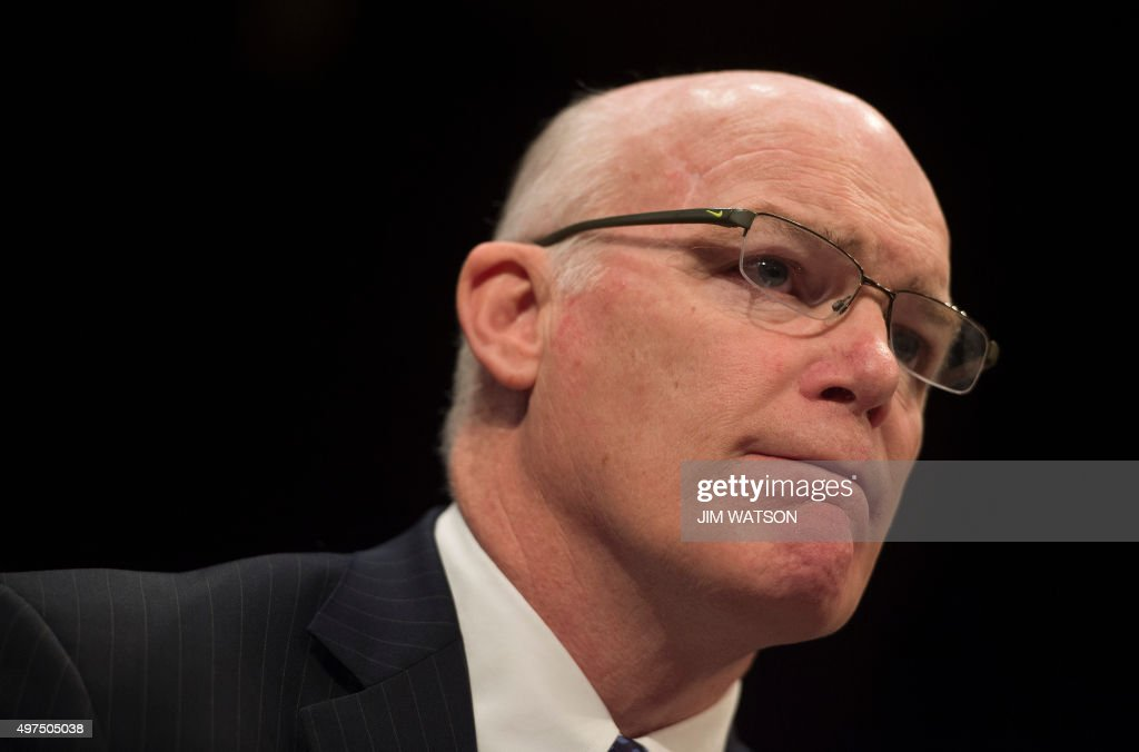 US Secret Service Director Joe Clancy testifies before a joint Senate Homeland Security and Governmental Affairs Committee and the House Homeland Security Committee on Capitol Hill in Washington, DC, November 17, 2015.