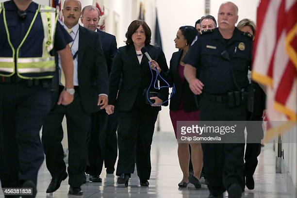 Secret Service Director Julia Pierson arrives to testify to the House Oversight and Government Reform Committee on the White House perimeter breach...