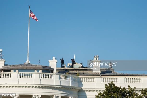 Secret Service Members on Roof of White House in Washington, D.C. USA