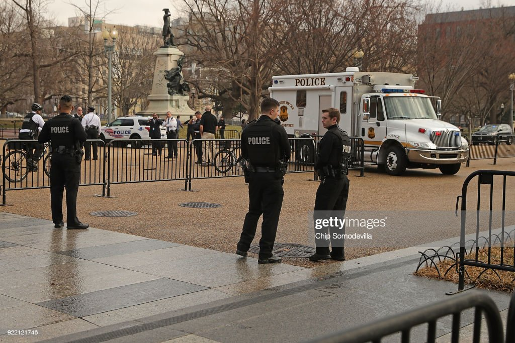 Suspicious Vehicle Inspected Close To White House : News Photo