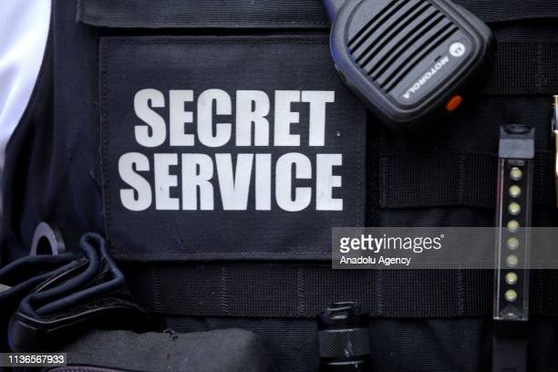 Secret Service Uniformed Division personnel take measures after a man lit himself on fire near the White House in Washington DC United States on...