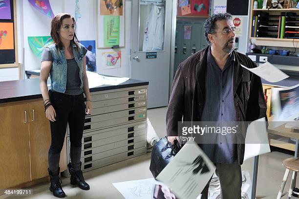 "Secret Services"" Episode 502 -- Pictured: Allison Scagliotti as Claudia Donovan, Saul Rubinek as Artie Nielsen --"