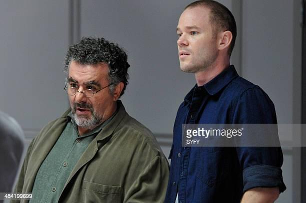 "Secret Services"" Episode 502 -- Pictured: Saul Rubinek as Artie Nielsen, Aaron Ashmore as Steve Jinks --"