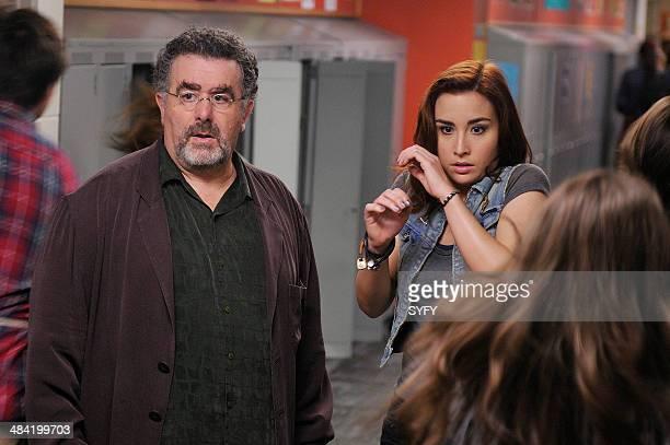 "Secret Services"" Episode 502 -- Pictured: Saul Rubinek as Artie Nielsen, Allison Scagliotti as Claudia Donovan --"