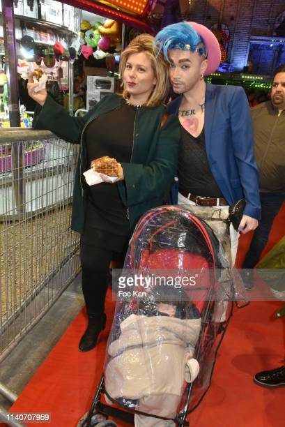 Secret Story 3 TV comedian Cindy Lopes and singer Bruno Moneroe attend Foire du Trone 2019 Auction Party to benefit Adicare and Amster associations...