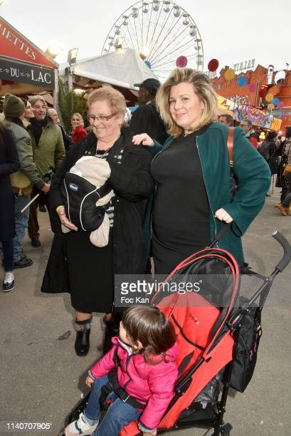 Secret Story 3 TV comedian Cindy Lopes with her mother and children attend Foire du Trone 2019 Auction Party to benefit Adicare and Amster...