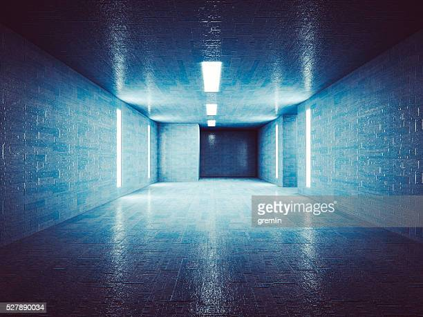 secret underground corridor - bunker stock pictures, royalty-free photos & images