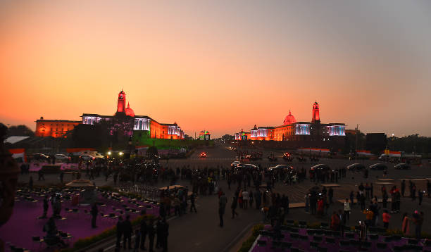 IND: Full Dress Rehearsals For The Beating Retreat Ceremony At Vijay Chowk