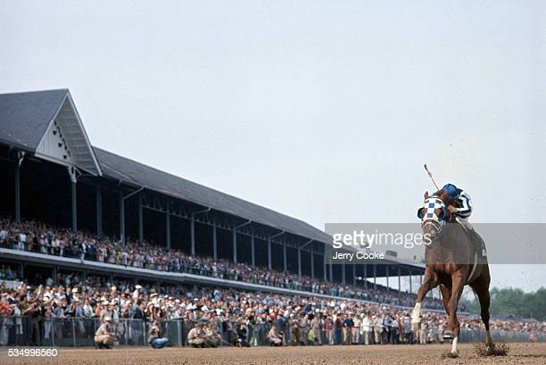 Secretariat with Ron Turcotte up wins the 1973 Kentucky Derby at Churchill Downs Secretariat and Turcotte would go on to win the Preakness and the...