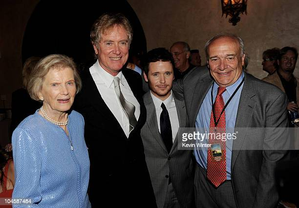 Secretariate's former owner sportswoman Penny Chenery director Randall Wallace actor Kevin Connolly and writer William Nack pose at the after party...