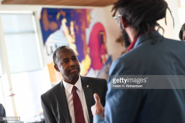 Secretary Ben Carson as part of a tour of the Mariposa development the Denver Housing Authority's crown jewel for mixedincome living and urban...