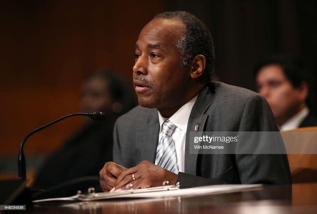 Housing And Urban Development Secretary Ben Carson Testifies To Senate Committee On Department's Budget : News Photo