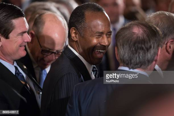 HUD Secretary Ben Carson was in attendance at an event combatting drug demand and the opioid crisis in the East Room of the White House on Thursday...