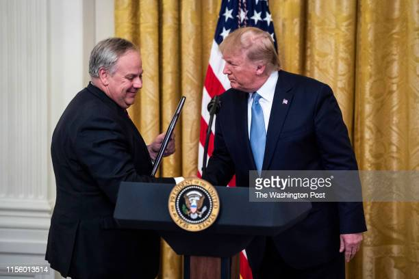 Secretary David Bernhardt Department of the Interior speaks as President Donald J Trump participates in an event on Americas environmental leadership...