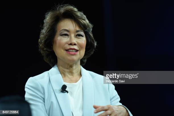 Secretary Elaine Chao US Department of Transportation speaks at The 2017 Concordia Annual Summit at Grand Hyatt New York on September 18 2017 in New...
