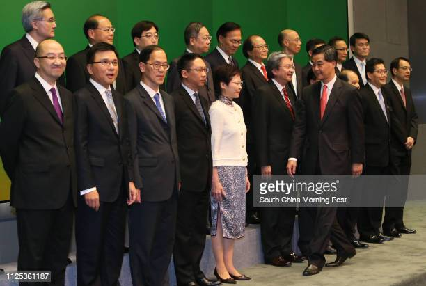 Secretary for Constitutional and Mainland Affairs Raymond Tam Chiyuen Secretary for Financial Services and the Treasury Professor Chan Kakeung...
