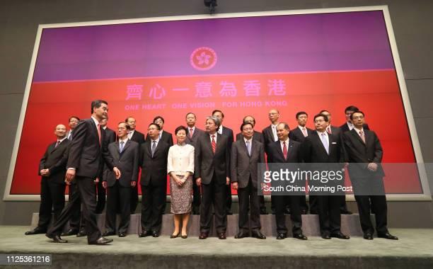 Secretary for Constitutional and Mainland Affairs Raymond Tam Chiyuen Chief Executiveelect Leung Chunying Secretary for Home Affairs Tsang Taksing...