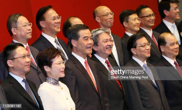 Secretary for Justice Rimsky Yuen Kwokkeung Chief Secretary for Administration Carrie Lam Cheng Yuetngor Chief Executiveelect Leung ChunyingFinancial...