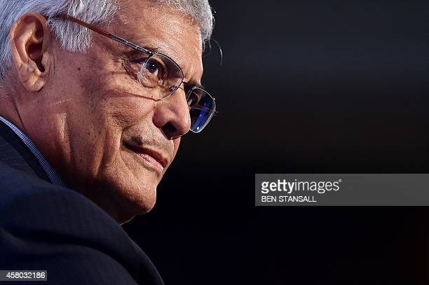 Secretary General Abdalla Salem ElBadri speaks during the Oil and Money conference in London on October 29 2014 AFP PHOTO/BEN STANSALL