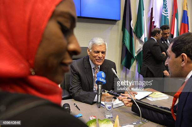Secretary General Abdalla Salem ElBadri talks with journalist ahead of the166th ordinary meeting of the Organization of the Petroleum Exporting...