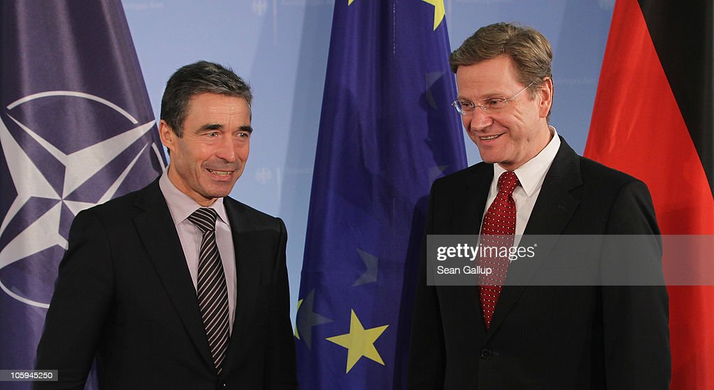 Westerwelle Meets With NATO Secretary General Rasmussen