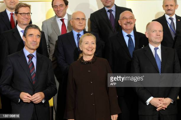 Secretary General Anders Fogh Rasmussen US Secretary of State Hillary Clinton Britain's Foreign Affairs Minister William Hague Germany's Foreign...