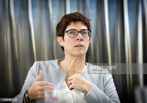 Secretary General Annegret KrampKarrenbauer during an interview on September 27 2018 in Berlin Germany