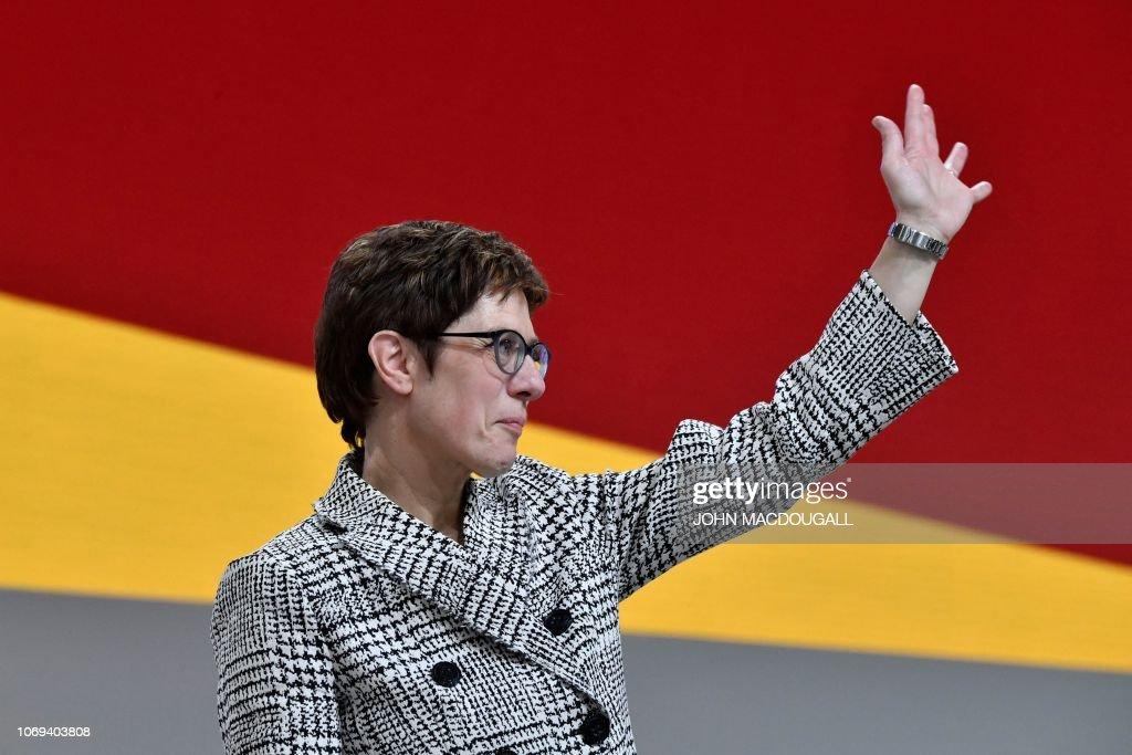 GERMANY-POLITICS-CDU-CONGRESS : News Photo