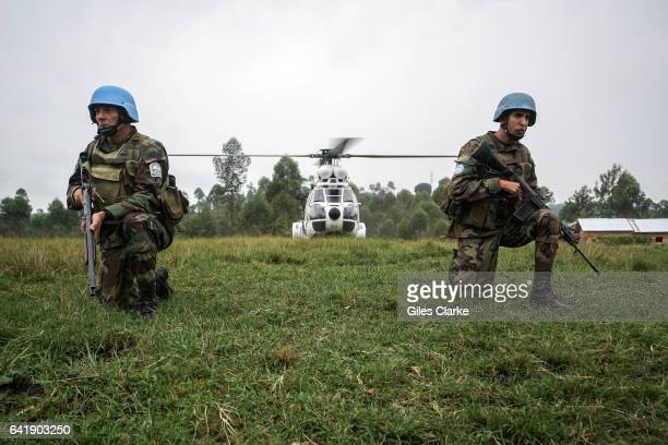 Secretary General Ban Ki-moon and delegation visit the Mungote Internally Displaced Persons camp some 80km north of Goma in The Democratic Republic...