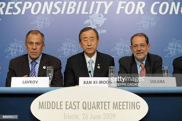 Secretary general Ban Ki-Moon , EU High Representative for CFSP Javier Solana and Russian Federation Minister for Foreign affairs Sergey Lavrov...