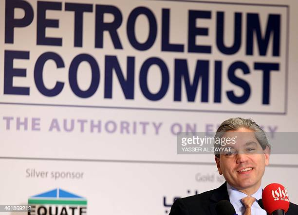Secretary general for international Energy forum Aldo Flores-Quiroga speaks during the opening of a forum to discuss emerging trends in hydrocarbon...