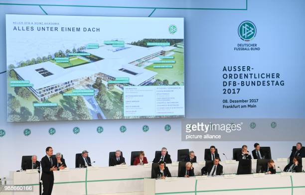 DFB Secretary General Friedrich Curtius presents the concept for the DFB Academy at the extraordinary federal conference of the German Football...
