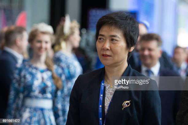Secretary General International Civil Aviation Organization Fang Liu attends the St Petersburg International Economic Forum Russia June 2 2017