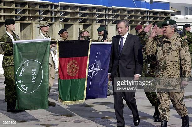 Secretary General Jaap de Hoop Scheffer and German commander of the NATO-led International Security Assistance Force in Afghanistan Lieutenant...