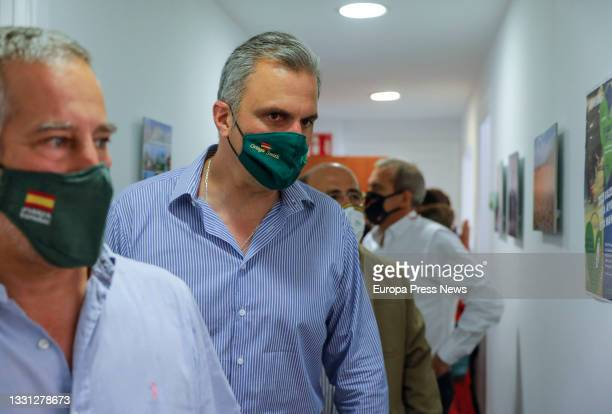 Secretary General Javier Ortega Smith during the inauguration of the party's new headquarters in Navellos street in Valencia, on July 29 in Valencia,...